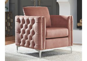 NEW IN THE BOX. LIZMONT BLUSH PINK ACCENT CHAIR, SKU# A3000196AC for Sale in Santa Ana, CA