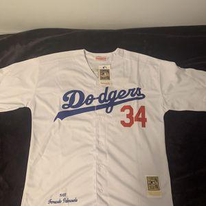 Valenzuela #34 White Los Angeles Dodgers Jersey for Sale in Glendale, CA