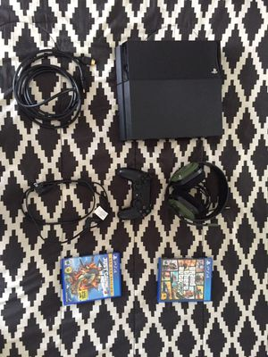 PS4 - Super Bundle ( Astro X Call of Duty A10 Gaming Headphones, GTA 5, Just Cause 3, Controller, PS4[and needed cables]) for Sale in Redondo Beach, CA