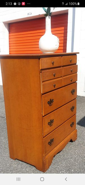 QUALITY SOLID WOOD TALL CHEST for Sale in Fairfax, VA