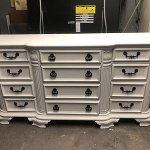 12 drawer hardwood dresser $300 for Sale in Tulare, CA