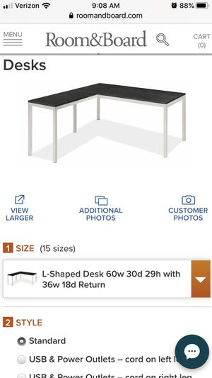 Room and board L Shaped desk for Sale in Edmonds, WA