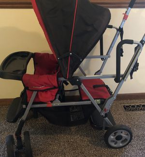 Joovy Caboose Tandem Stroller Red for Sale in Bolingbrook, IL