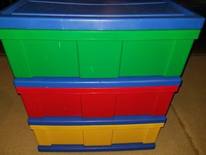 Colorful plastic drawers storage for Sale in Phoenix, AZ