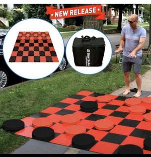Giant Checkers Game - Indoor outdoor Family Game Lawn Game 5' X 5' Feet for Sale in Norwalk, CA