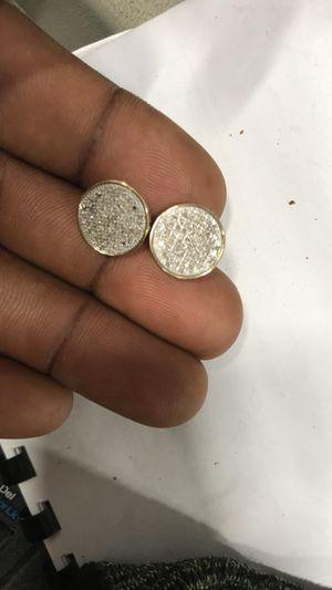 10k diamond earrings Men for Sale in Temple Terrace, FL