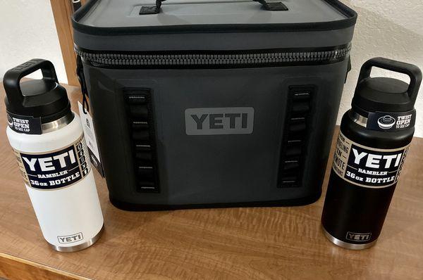 YETI SOFT COOLER W/ 2- 36OZ RAMBLER's