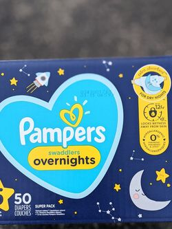 Pampers Swaddlers Overnight Size 5 for Sale in Long Beach,  CA