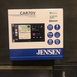Jensen 7 inch touchscreen multimedia radio receiver with Bluetooth apple CarPlay and android auto for Sale in Yorba Linda, CA