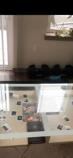 Glass table top with storage coffee table for Sale in Kent,  WA