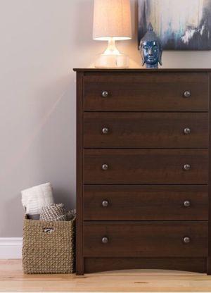 New!! Dresser, chest, wardrobe, 5 drawers dresser, storage unit, organizer, bedroom furniture , espresso for Sale in Phoenix, AZ