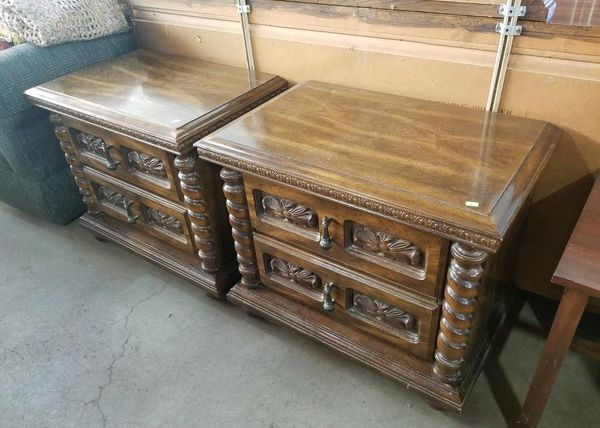 Set of Two Quality Mid-Century Nightstands - Delivery Available,