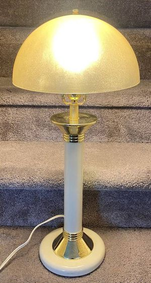 Vtg Antique Art Deco Mid Century Modern MCM UFO Flying Saucer Atomic Age Space Era Acrylic Lucite Mushroom Shade Table Lamp for Sale in Chapel Hill, NC