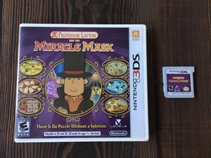 Professor Layton and the Miracle Mask for Nintendo 3DS for Sale in Brentwood, CA