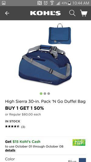High Sierra travel bag. New. for Sale in San Bernardino, CA