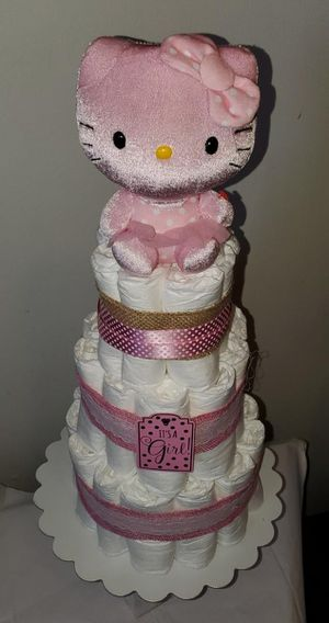 HELLO KITTY DIAPER BABY CAKE for Sale in Bell, CA