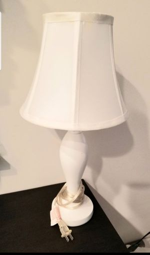 IKEA White Table Lamp with White Shade. Used but in great condition. for Sale in Philadelphia, PA