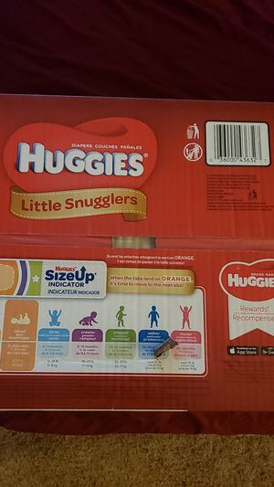 SIZE 1 AND SIZE 2 HUGGIES SNUG AND DRY DIAPER for Sale in Upland, CA