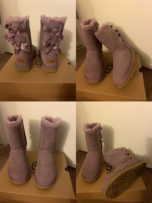 100% Authentic Brand New in Box UGG Bailey Bow Boots / Color: Elderberry / Women size 6 and Women size 7 for Sale in Walnut Creek, CA