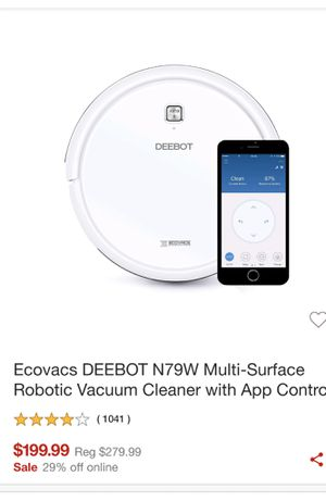 Ecovacs vacuum cleaner for Sale in Sunrise, FL