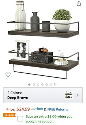Brand new Floating Shelves for Wall Set of 2 for Sale in Queens, NY