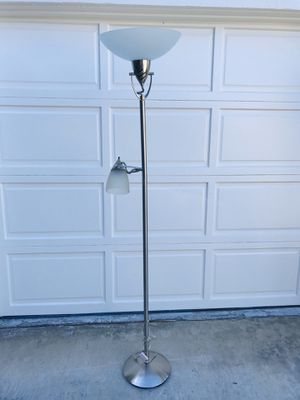 Dual Floor Lamp - Brushed nickel finish for Sale in Anaheim, CA
