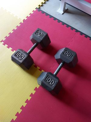 100# dumbbells for Sale in Vermontville, MI