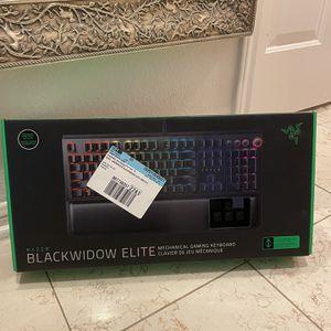Brand new Razer Blackwidow Elite Green Switch Mechanical Keyboard for Sale in San Antonio, TX