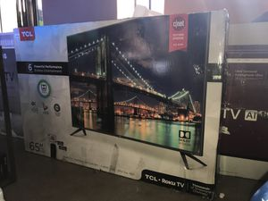 """65"""" TCL roku smart 4k hdr Tv 6 series for Sale in Fontana, CA"""