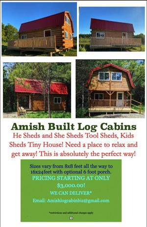 Amish Cabins built to order! for Sale in Centerburg, OH
