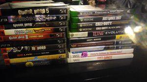 Guitar hero collection for PS3 smash Bros melee Luigi's Mansion Zelda Tetris and more for Sale in San Antonio, TX