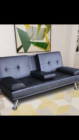 🔥New! Exec black sofa bed futon for Sale in Temecula, CA