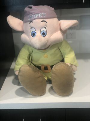 "Jumbo 36"" RARE DISNEY DOPEY PLUSH TOY COLLECTIBLE for Sale in Highlands Ranch, CO"