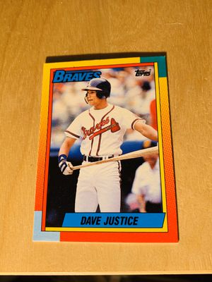 1990 Topps trades DAVE JUSTICE Atlanta Braves #48T MINT SHARP ROOKIE CARD for Sale in San Diego, CA