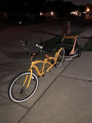 2 seater bike & 3 seater trailer with lights🚦🚥 for sale!!! for Sale in Oak Point, TX