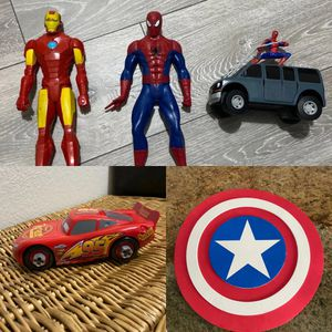 Iron man spider man lighting McQueen toys for Sale in Miami, FL
