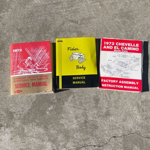 1972 Chevy Service Manuals for Sale in Oakley, CA