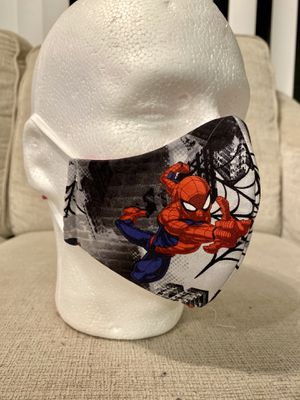 Handmade Masks Spider-Man. 100% Cotton. Hypoallergenic. Reusable. 5 Layers. Filter. for Sale in Orlando, FL
