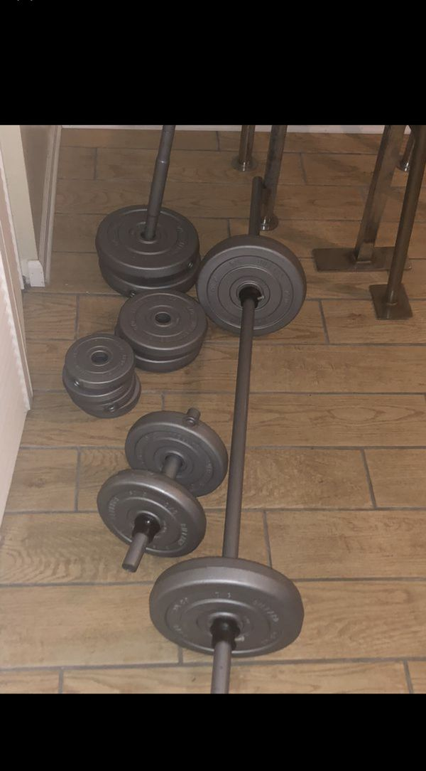 10 in 1 HOME GYM WITH WEIGHTS, STRAIGHT BAR, EZ CURL BAR