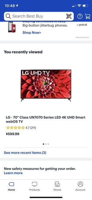 "LG 70"" 4KUHD smart TV for Sale in Alameda, CA"