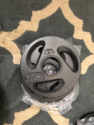 Cap 5lb Olympic Weight Plates - 4 total for Sale in Westerville, OH