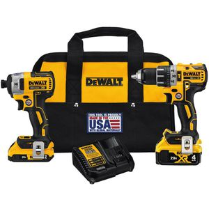 DEWALT 20-VOLT MAX XR LITHIUM-ION CORDLESS BRUSHLESS DRILL/IMPACT COMBO KIT (2-TOOL) WITH (1) BATTERY 2AH AND (1) BATTERY 4AH for Sale in Berwyn, IL