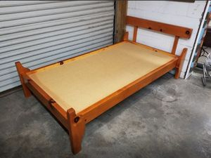 Twin Size Mid Century MCM Pine Wood Bed Frame (Bed #6) for Sale in Syracuse, NY