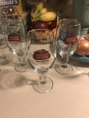 3 Stella glasses, marked firm for Sale in Port St. Lucie, FL