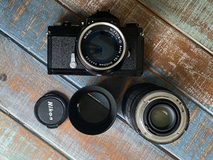 Nikon Nikormat vintage camera and two lenses for Sale in Los Gatos, CA