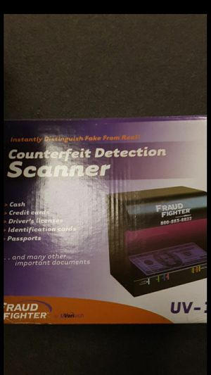 Fraud fighter money counterfeit detector. for Sale in South El Monte, CA