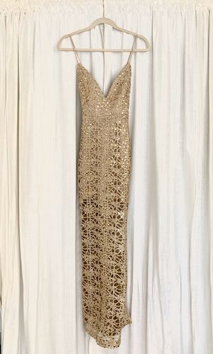 Gold Lace Sparkle Dress Small for Sale in Newark, CA