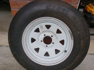 New trailer tire and rim ST205/75R15 for Sale in Winston-Salem, NC