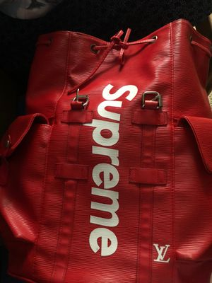 Supreme x Louis Vuitton backpack red for Sale in Orlando, FL
