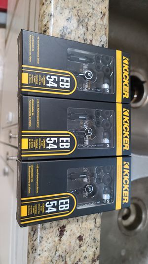Kicker EB54 Headphones Earbuds with Mic Brand New in Box for Sale in Houston, TX